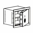 Настенный сейф LSS 40, LSS 41